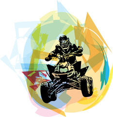 Fototapeta Do pokoju chłopca Quad bike illustration