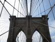 Blick von der Brookly Bridge auf Manhattan