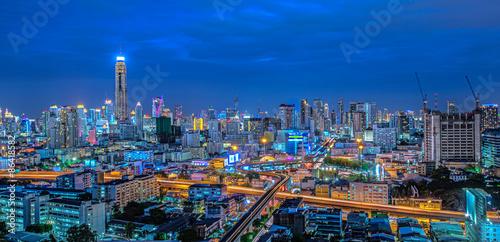 Photo  Bangkok city night view