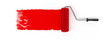 Leinwanddruck Bild - Red roller brush