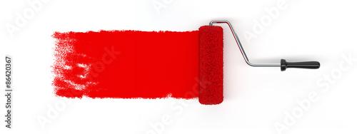 Fotografía  Red roller brush