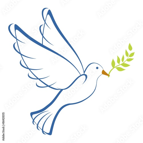 Peace Dove Blue 2 Canvas
