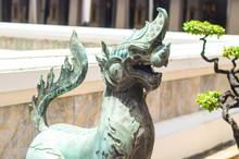 Statue Of Sigha At Wat Pho