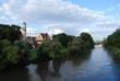 Leinwanddruck Bild - St.- Mang Kirche in Regensburg