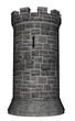Leinwandbild Motiv Castle tower - 3D render