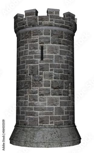 Castle tower - 3D render Tapéta, Fotótapéta
