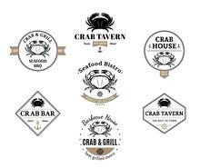 Crab Logos, Labels And Design ...