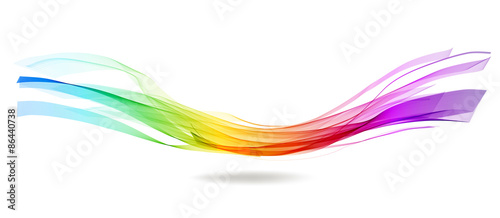 In de dag Abstract wave Abstract colorful background with wave