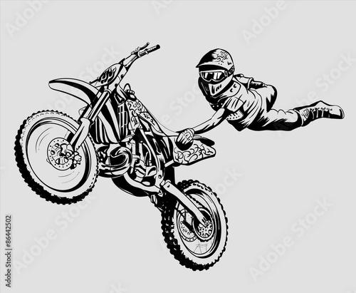 Photo  motocross
