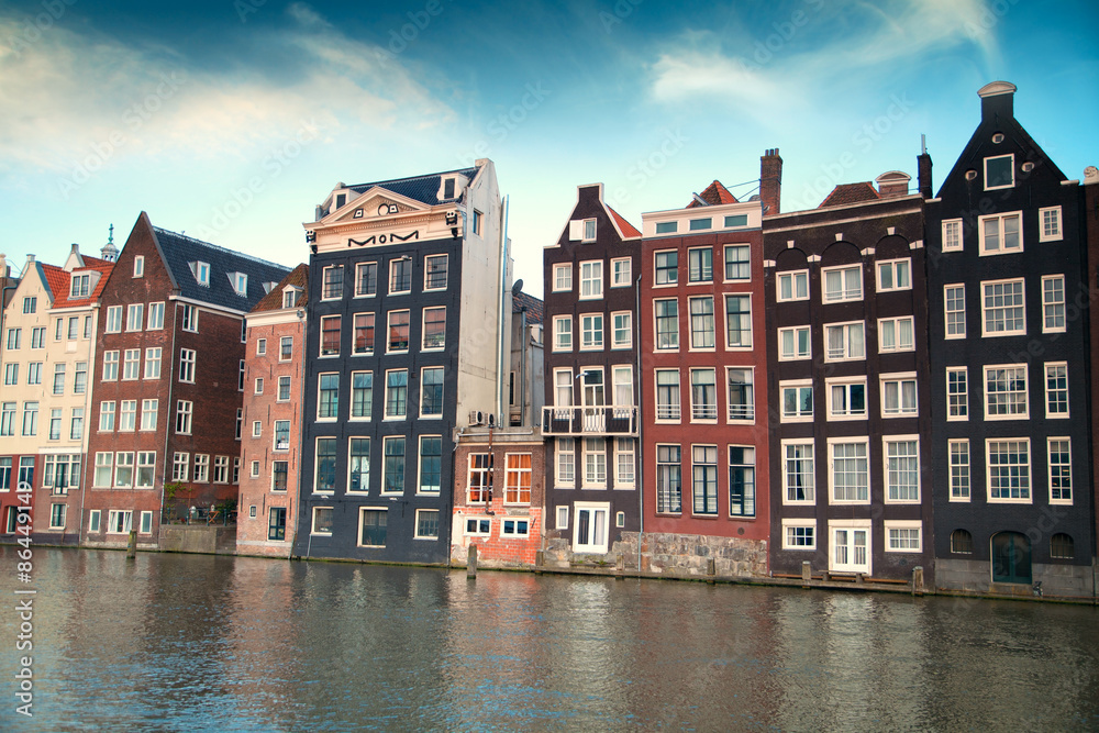 Photo & Art Print one of the most famous European city of Amsterdam