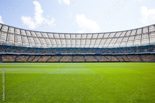 La pose en embrasure Stade de football Olympic Stadium in Kiev, where the european football championship in 2012 have been played