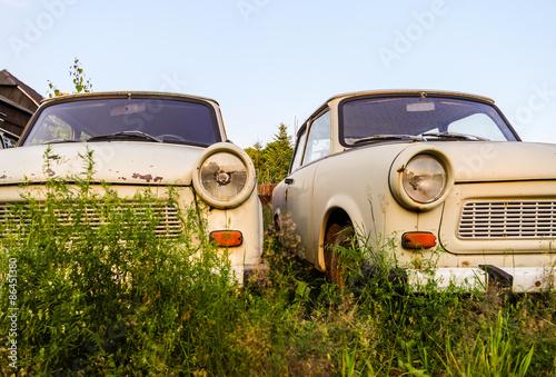Fotografie, Tablou zwei verlassene Trabis