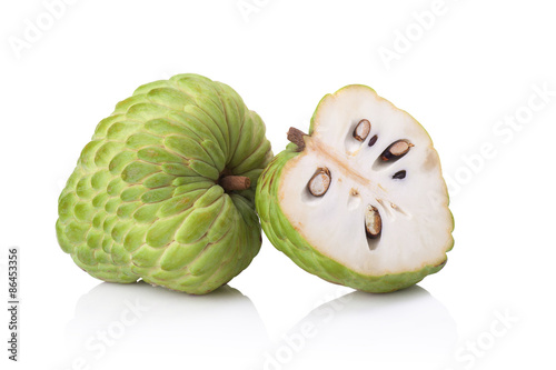 Photographie custard apple on white background