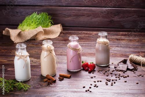 Foto op Aluminium Milkshake Different milkshakes.