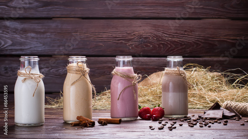 Foto op Aluminium Milkshake Different natural milkshakes.