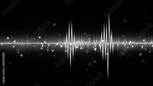 Obrazy muzyczne  audio-waveform-black-and-white-equalizer