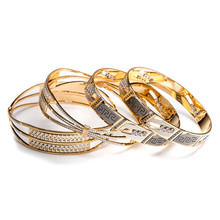 Two Tone Gold Bangles