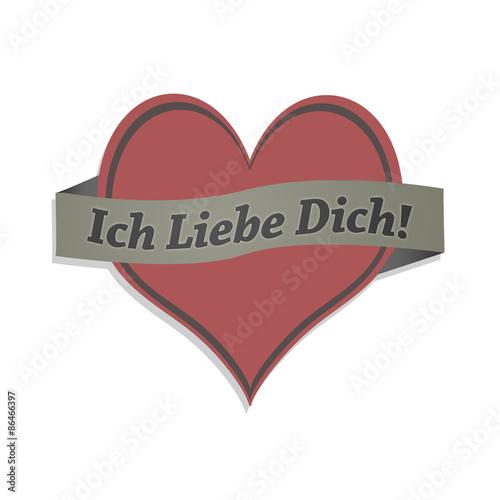 Fotografie, Obraz  Ich liebe Dich