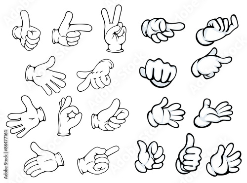 Cartoon hand gestures and pointers