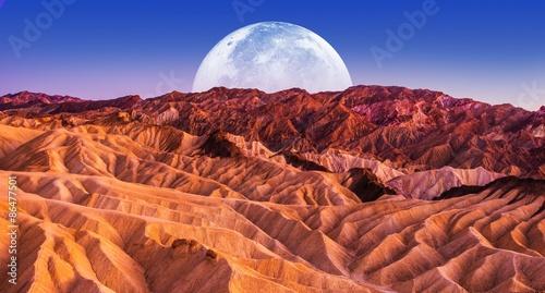 Keuken foto achterwand Baksteen Death Valley Scenic Night
