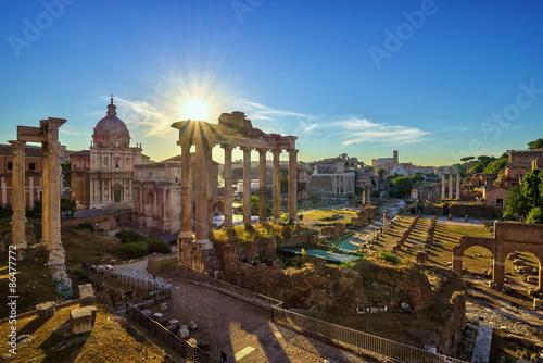 Poster Rome Sunrise at Roman Forum - Rome - Italy