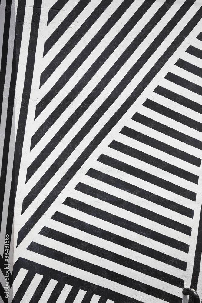 Fototapeta Black and white stripes