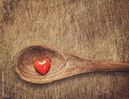 Poster Cuisine heart on spoon