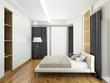 Modern interior of a bedroom 3d rendering