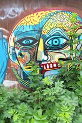 Panel Szklany Graffiti Street art / Doel (Belgique)