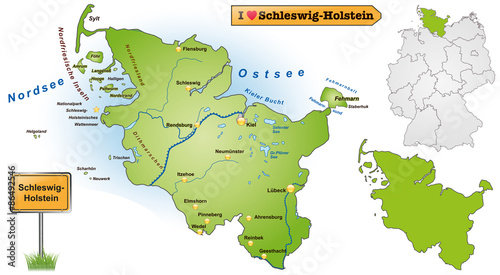 Karte Ostsee Schleswig Holstein.Karte Von Schleswig Holstein Buy This Stock Vector And Explore