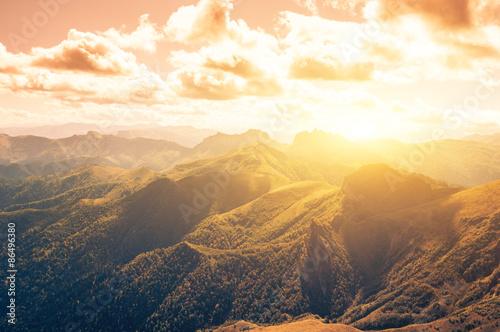 rocks mountain in autumn
