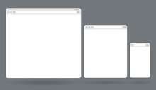 Flat Blank Browser Windows For...