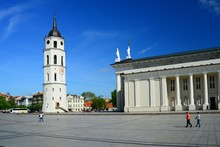 Cathedral Pubic Domain Square Area In The Vilnius