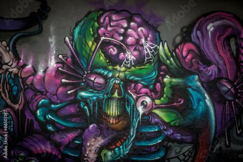 graffiti-alien-creature