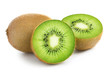 canvas print picture - kiwi isolated on white background