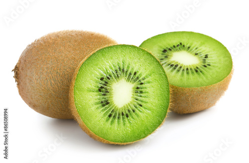 Obraz na plátně kiwi isolated on white background