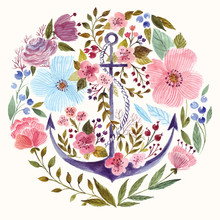 Anchor In Watercolor Technique