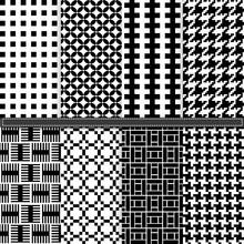 Geometric And Houndstooth Seam...