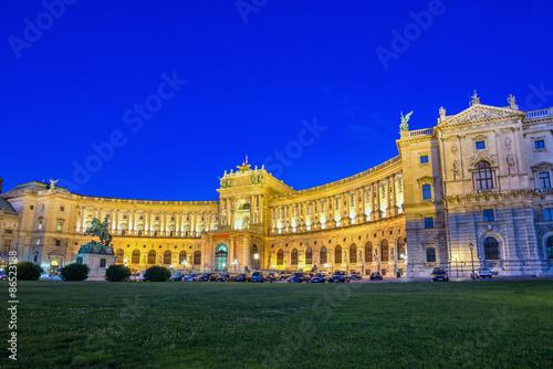 Photo  Hofburg Imperial Palace at night - Vienna - Austria