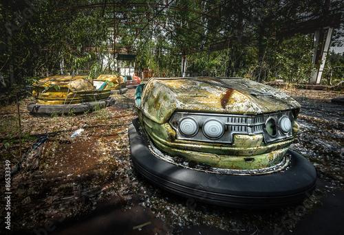 Fotografie, Obraz  Chernobyl Bumper Cars, Pripyat Fairground