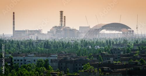 Fotografie, Obraz  Černobylské jaderné reaktor - Nové Sarcophagus