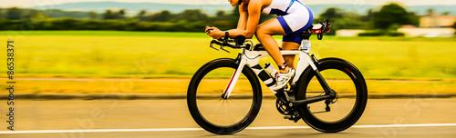 Fotobehang Fietsen Bicycle Race Triathlon