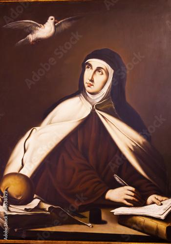 Fotografie, Obraz  Saint Teresa Painting Convento de Santa Teresa Avila Castile Spa