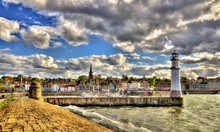 View Of Newhaven Harbour In Edinburgh - Scotland
