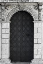 Old Church Textured Door With ...