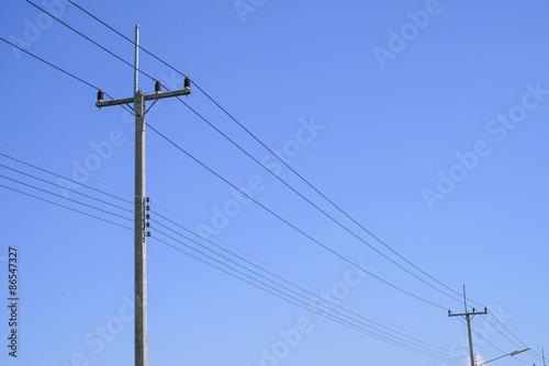 Fotografie, Obraz  Vysoké napětí elektrické pole