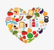 Food digital design.