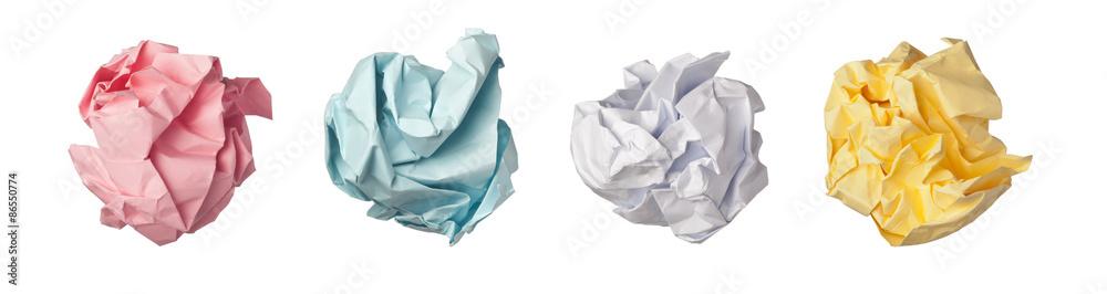 Fototapeta Crumpled paper ball