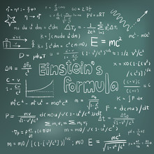 Albert Einstein Law And Physics Mathematical Formula Equation Handwriting