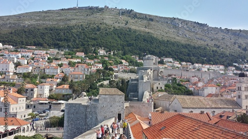 Photo  Dubrovnik Wall and City, Croatia